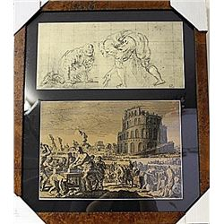 Framed 2-in-1 Engravings (78E-EK)