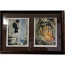 Framed 2-in-1-Icart Lithographs (84E-EK)