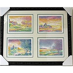 Framed 4-in-1-Jean Fernard Lithographs (92E-EK)