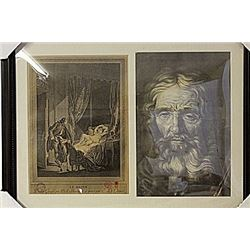 Framed 2-in-1 Engravings (94E-EK)
