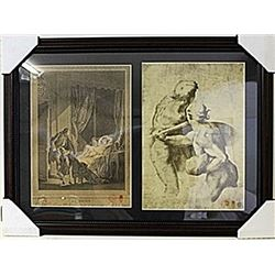 Framed 2-in-1 Engravings (115E-EK)
