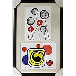 Framed 2-in-1 Alexander Calder Lithographs (124E-EK)