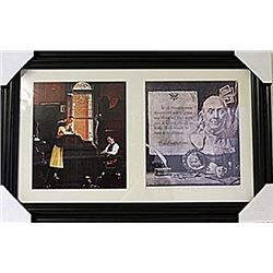 Framed 2-in-1 Norman Rockwell Lithographs (135E-EK)