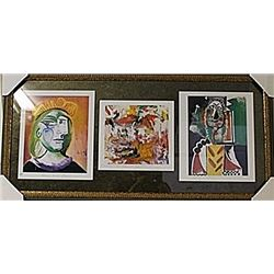 Framed 3-in-1 Picasso Lithographs (164E-EK)