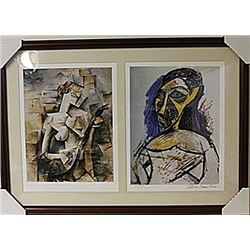 Framed 2-in-1 Picasso Lithographs (184E-EK)