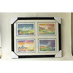 Framed 4-in-1-Jean Fernard Lithographs  (216E-EK)