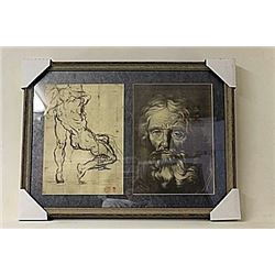Framed 2-in-1 Engravings (218e-EK)