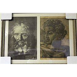Framed 2-in-1 Engravings (220E-EK)