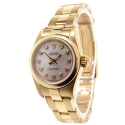 Women's Custom 18K Gold Rolex Watch