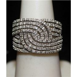 Fancy Silver Ring with Diamonds (184I)