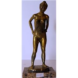 Standing Nude - Gold over Bronze Sculpture - after Leo Mol
