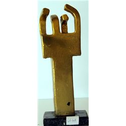 Gold Over bronze Sculpture - after Edouardo Chillida