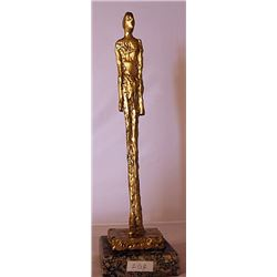 Gold over Bronze Sculpture - after Alberto Giacometti