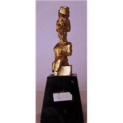 Portrait of Picasso - Gold over Bronze Sculpture -  after Salvador Dali