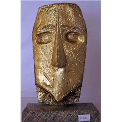 Gold over Bronze Sculpture-  after Pablo Picasso