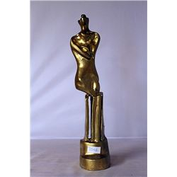 Gold over Bronze Sculpture - after Henry Moore