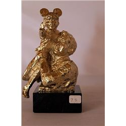 High on a Hill - Gold over Bronze Sculpture - after Dennis Smith