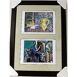 Framed 2-in-1-Picasso Lithographs (86E-EK)