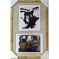 Framed 2-in-1  Lithographs (137E-EK)