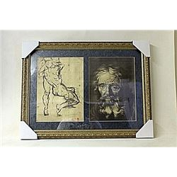 Framed 2-in-1 Engravings (219E-EK)