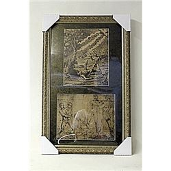 Framed 2-in-1 Engravings (244E-EK)