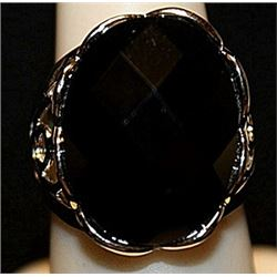 Fancy Garnet Sterling Silver Ring. (173L)