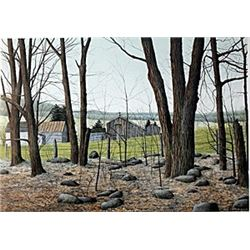 "Lithograph ""Wooded Stead""  Helen Rundell"