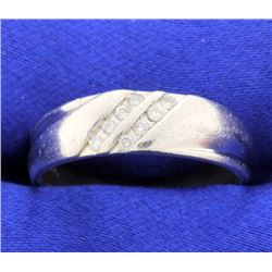 Platinum & Diamond Wedding Band