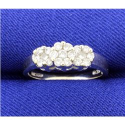1/2 ct TW Diamond Ring 3 Stone Style