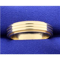 Wide 6mm Wedding Band