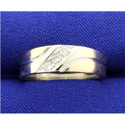 White and Yellow 14k Gold Diamond Band