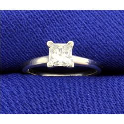 .84 Carat Princess Cut 14k Solitaire Ring