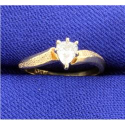 1/4 Carat Pear Shape Diamond Ring