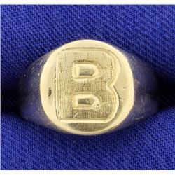 """B"" Initial or Monogram Ring"