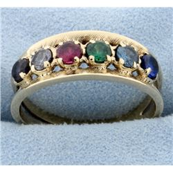 Multi-Colored Gemstone Ring