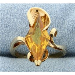 Diamond Shaped Citrine Ring