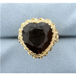 Smokey Topaz Heart Ring