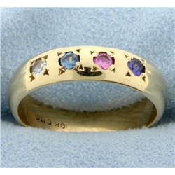 Multi-Color Gemstone Ring