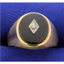 Diamond Ring in brushed style shank