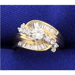 1ct Total Weight Diamond Ring