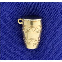 African Drum Charm