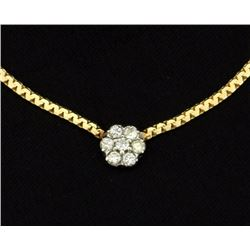 1/4ct Total Weight Diamond Necklace