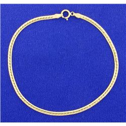 7 5/8 Inch Yellow Gold Bracelet