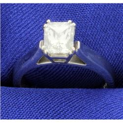 Certified 1ct Radiant Solitaire Engagement Ring