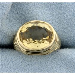 Antique Citrine Pinky Ring