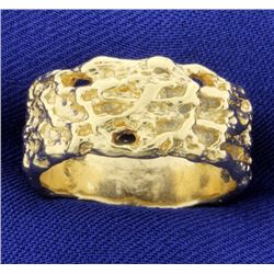 Gold Nugget Style Ring