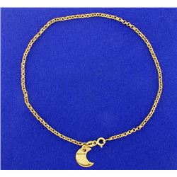 10 Inch Anklet with Moon Charm