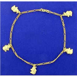 9 3/4 Inch Elephant Anklet