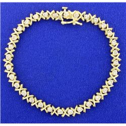 2ct TW Diamond Tennis Bracelet