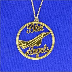Blue Angels Pendant & Chain